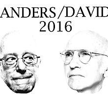 BERNIE SANDERS/LARRY DAVID 2016 by BlazerRazor