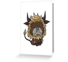 Blonde Feral Druid Greeting Card