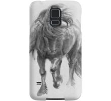 Black Horse sumi-e original watercolor painting Samsung Galaxy Case/Skin