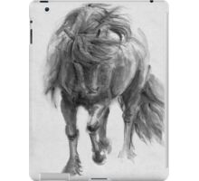 Black Horse sumi-e original watercolor painting iPad Case/Skin