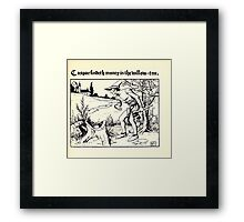 The Wonder Clock Howard Pyle 1915 0245 Casper Findeth Money in the Willow Tree Framed Print