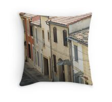 Old French Houses Throw Pillow