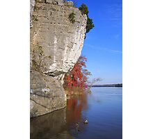 Ohio River bluffs at Cave in Rock, IL Photographic Print