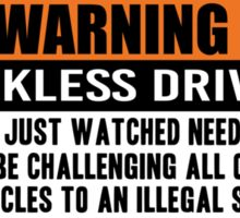 Warning - need for speed Sticker