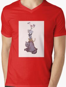 Animal Tower Mens V-Neck T-Shirt