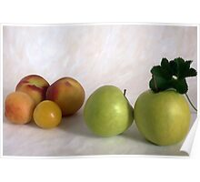 Peahes and apples Poster