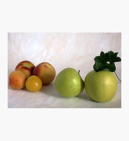Peahes and apples Photographic Print
