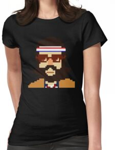 First Hipster - Awesome 8 bit design Womens Fitted T-Shirt