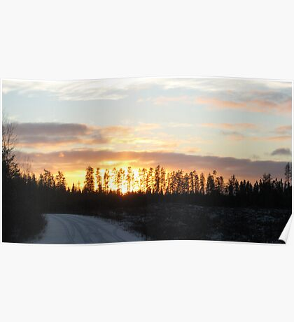 Bayly Township Sunset No.2  Poster