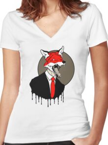 Sly Old Fox Women's Fitted V-Neck T-Shirt