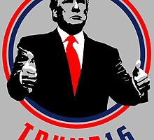 Donald Trump - 2016 - USA election - thumbs up - gray by twyland