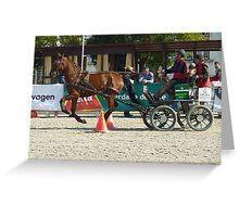 Disabled driving competition -  Portugal Greeting Card