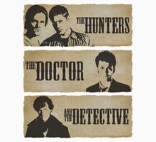 The Hunters, The Doctor and The Detective  One Piece - Short Sleeve