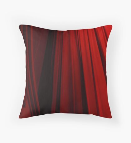 red curtain Throw Pillow