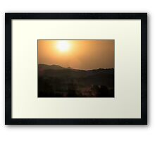 Italian Sunrise Framed Print