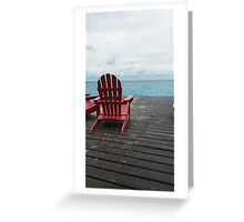 Red Chair in the Sand Greeting Card