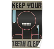 WPA United States Government Work Project Administration Poster 0042 Keep Your Teeth Clean Poster