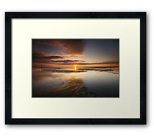 Sandyhills Bay Sunrise Framed Print
