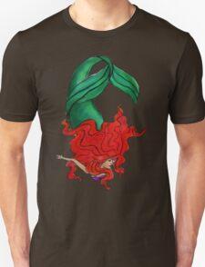 Red Head Mermaid Unisex T-Shirt