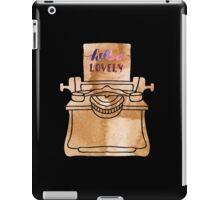 Typewriter Illustration iPad Case/Skin