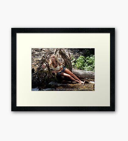 Beached Blond Framed Print