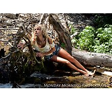 Beached Blond Photographic Print