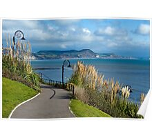 A Walk Through The Gardens ~ Lyme Regis Poster