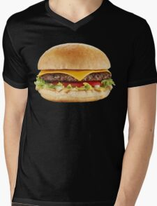 AWESOME COOL HAMBURGER Mens V-Neck T-Shirt
