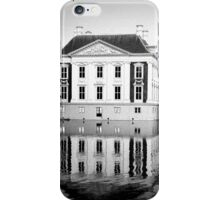 Building Reflections in Black & White iPhone Case/Skin