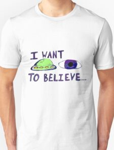 eye want to believe T-Shirt