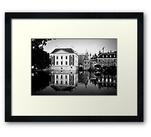 Building Reflections in Black & White Framed Print