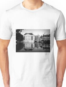 Building Reflections in Black & White Unisex T-Shirt
