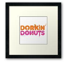 Dorkin' Donuts Framed Print