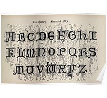 The Signist's Book of Modern Alphabets Freeman F Delamotte 1906 0139 Fourteenth 14th Century Illuminated Poster