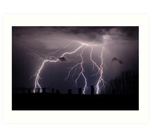 Lightning Bolts Art Print