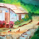 Little House in the country-Oil Painting by Esperanza Gallego