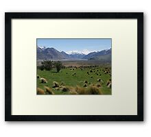 Edoras, Mt Sunday, Lord of the Rings, NZ Framed Print