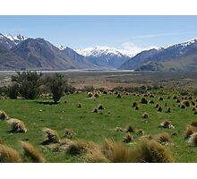Edoras, Mt Sunday, Lord of the Rings, NZ Photographic Print