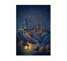 Hogwarts Fairytale Art Print