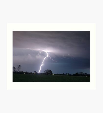 Severe Thunderstorm and Lightning Art Print