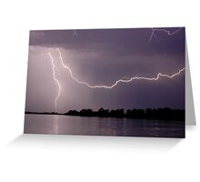 Lightning over the Clarence River Greeting Card
