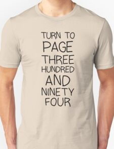 SNAPE Turn To Page 394 T-Shirt