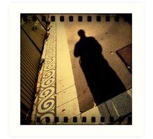 iPhone 4 Series - Footpath Shadow Art Print