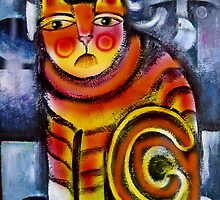 Orange Cat by Karin Zeller