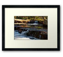 """Tiered Cascades"" Framed Print"