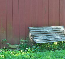 Bench by the Barn by Nicole Jeffery