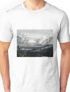Snowy Winter Mountains Unisex T-Shirt