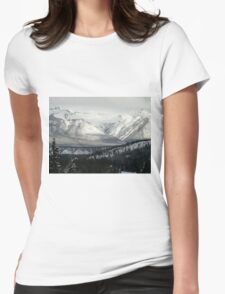 Snowy Winter Mountains Womens Fitted T-Shirt