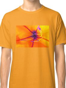 Macro of a lily flower with focus on pistil Classic T-Shirt