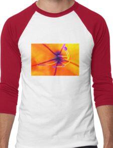Macro of a lily flower with focus on pistil Men's Baseball ¾ T-Shirt